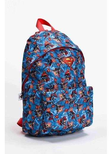 DeFacto Superman Lisanslı Okul Çantası Lacivert